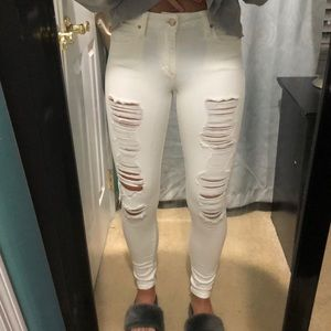 White Distressed Jeans!!!